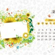 Stock Vector: Vector calendar 2013, june. Frame with place for your text or photo