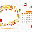 Vector calendar 2013, july. Frame with place for your text or photo - Stock Vector