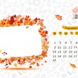 Vector calendar 2013, september. Frame with place for your text or photo — Stock Vector