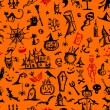 Halloween hand drawn pattern for your design — Stock Vector
