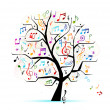 Stock Vector: Abstract musical tree for your design