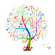 Royalty-Free Stock Vector Image: Abstract musical tree for your design
