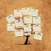Calendar tree 2013 for your design — Stock Vector