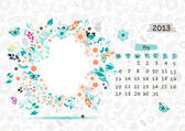 Vector calendar 2013, may. Frame with place for your text or photo — Stock Vector