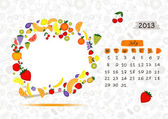 Vector calendar 2013, july. Frame with place for your text or photo — Stock Vector