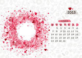 Vector calendar 2013, october. Frame with place for your text or photo — Stock Vector