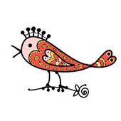 搞笑多彩鸟为您设计的剪影 — 图库矢量图片