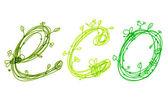 Green ecology concept, hand drawn design — Stock Vector