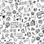 Szkoła ręcznie rysowane wzór do projektowania — Wektor stockowy