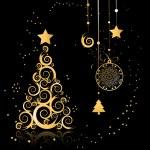 Christmas tree beautiful — Stock Vector #1356196