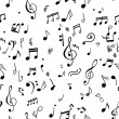 Abstract musical pattern for your design - Imagen vectorial
