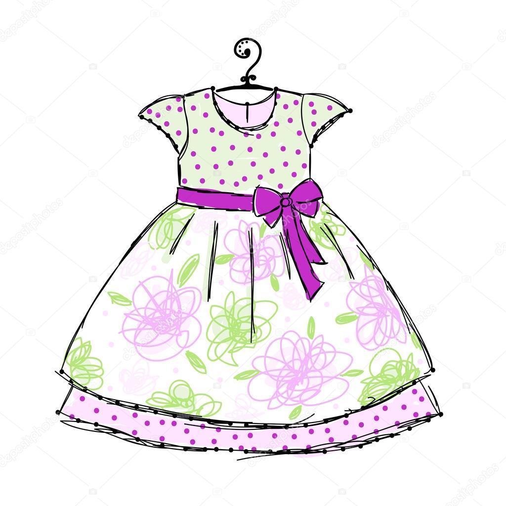 Рисунок ребенка платья