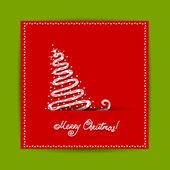 Design de cartão postal de natal com a serpente, símbolo do ano novo chinês 2013 — Vetorial Stock