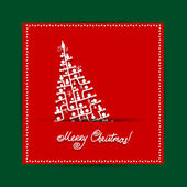 Christmas tree, postcard design with place for your text — Stock Vector