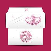結婚式の封筒のデザイン — ストックベクタ