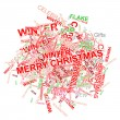 Stock Vector: christmas words
