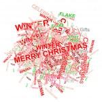 Christmas words — Stock Vector