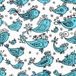 Seamless pattern with funny fishes for your design — Stock Vector