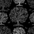 Seamless pattern with art trees for your design — ベクター素材ストック