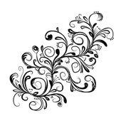 Kroki tasarımınız için soyut çiçek şube — Stok Vektör