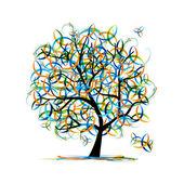 Tasarımınız için soyut ağaç — Stok Vektör