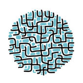 Abstract labyrinth shape for your design — Stock Vector