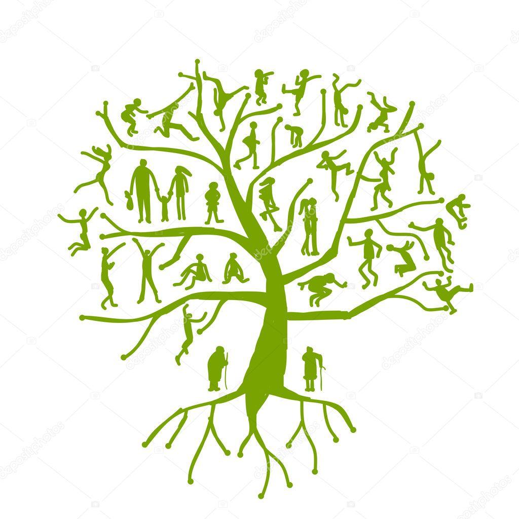 家族树, 亲属, 剪影