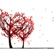 Trees of love for your design — Stock Vector #25414153
