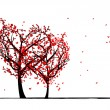Trees of love for your design — Stock Vector