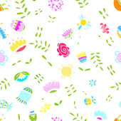 Abstract floral pattern for your design — Stock Vector