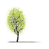 幼树绿色为您的设计 — 图库矢量图片