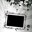 Floral frame with place for your text an — Stock Vector #2681703