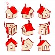 Set of house icons for your design — Stock Vector