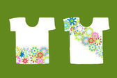 Floral design on white t-shirt — Stock Vector