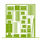 Wardrobe inside, illustration for your design — Stock Vector