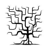为您的设计被隔绝的树干 — 图库矢量图片