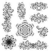 Set of floral ornaments for your design — Stock Vector