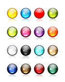 Set of glossy button icons for your design — Stock Vector