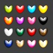 Set of heart shape icons for your design — Stock Vector #29131407