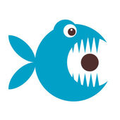Funny fish cartoon for your design — Stock Vector