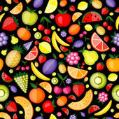 Fruits seamless pattern for your design — Stock Vector