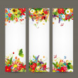 Floral style banners for your design — Stok Vektör