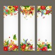Floral style banners for your design — Image vectorielle