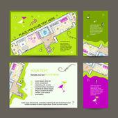 Nieuwe woning partij. uitnodiging design met plaats voor uw tekst — Stockvector
