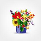 Blumen topf isoliert für ihr design — Stockvektor