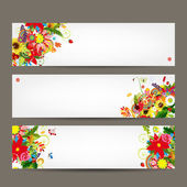 Floral style banners for your design — Vector de stock