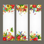Floral style banners for your design — Vettoriale Stock