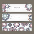 Floral banners design with place for your text — Stock Vector