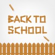 Back to school! Text made from wooden boards for your design — Stock Vector #30283397