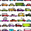 Toy cars collection, seamless pattern for your design — ベクター素材ストック